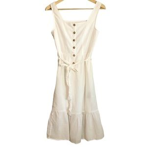 Rebellion Cotton button front midi dress
